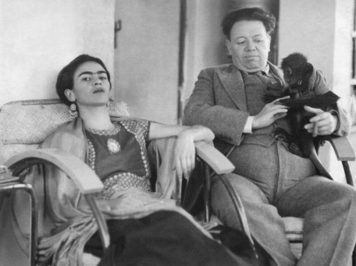 Фрида Кало и Диего Ривера. \ Фото: istorik.net.