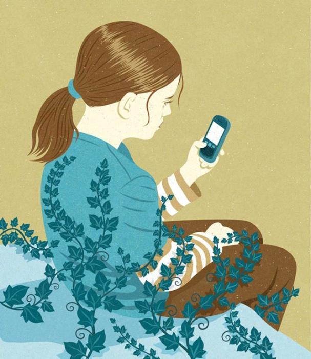 Мобильная зависимость.