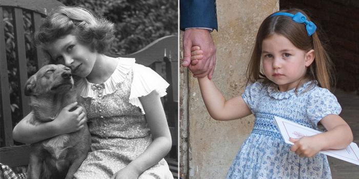 Принцесса Елизавета с собакой. \ Принцесса Шарлотта идёт на крестины брата.