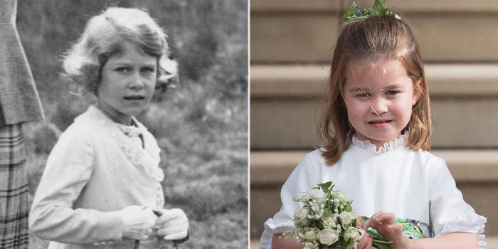 Елизавета посещает замок Абергельди. \ Принцесса Шарлотта на свадьбе.