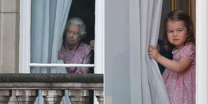 Королева Елизавета II. \ Принцесса Шарлотта.