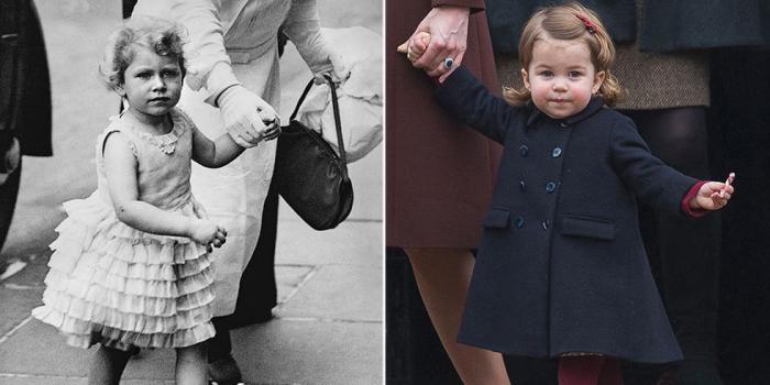 Елизавета с мамой на прогулке. \ Шарлотта по дороге в церковь.