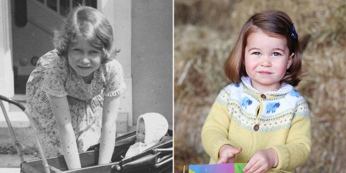 Елизавета играет с куклами. \ Шарлотта в свой День рождения.