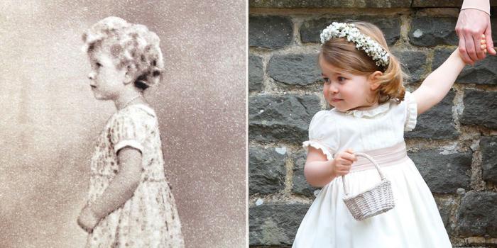 Елизавета позирует для портрета. \ Шарлотта отправилась на свадьбу.