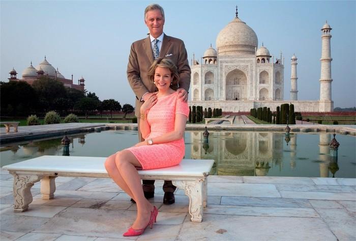 Король и королева Бельгии в индии. \ Фото: indiadaily.ru.