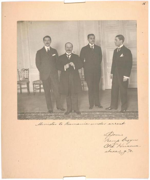 Министр Румынии под арестом. Фотограф Пётр Оцуп, Санкт-Петербург, Николаевская, д. 70.
