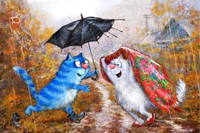 Почтовый роман^ Ты, я и зонтик.