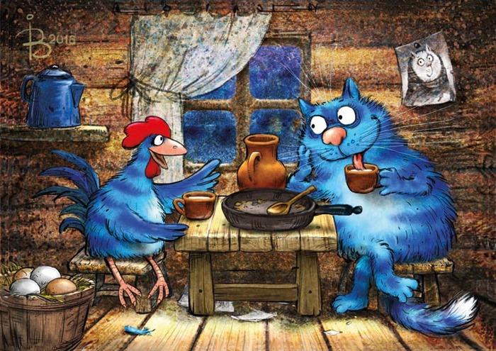 Кот и Петух беседуют о любви (Сиквел Кот и Петух).