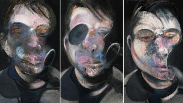 Три этюда для автопортрета, триптих Фрэнсиса Бэкона. \ Фото: antena3.com.