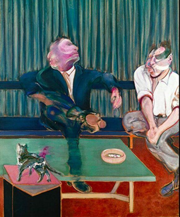 Портрет Джорджа Дайера и Люсьена Фрейда, Фрэнсис Бэкон, 1967 год. \ Фото: google.com.