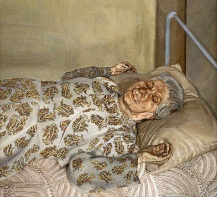 Мать художника отдыхает, Люсьен Фрейд, 1976 год. \ Фото: