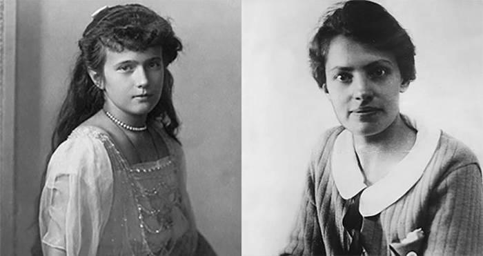 Анна Андерсон (справа), выдавшая себя за принцессу Анастасию (слева). / Фото: allthatsinteresting.com.