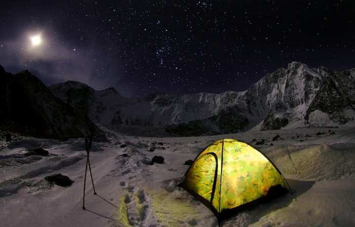 Ошибаетесь - гора Белуха, Катунский хребет горного Алтая.