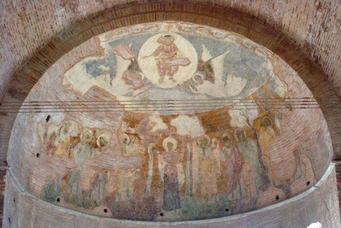 Сцена Вознесения в апсиде Ротонды. \ Фото: google.com.