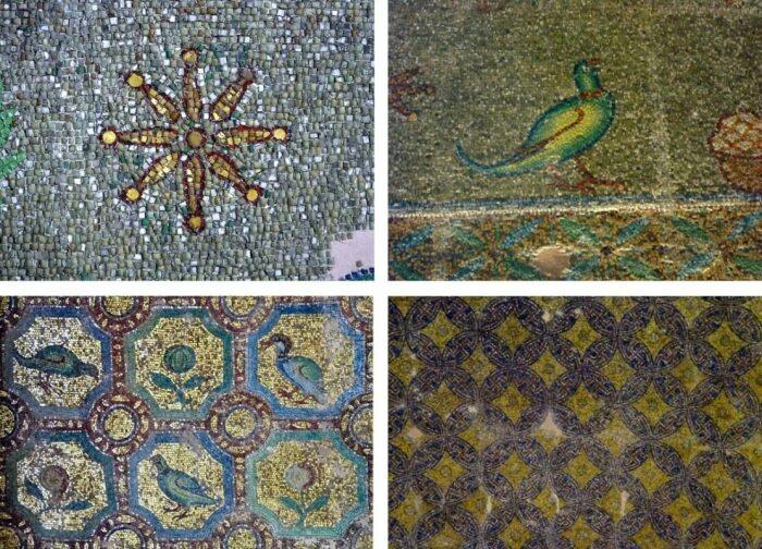 Ранневизантийские мозаики в  сводах Ротонды. \ Фото: greecehighdefinition.com.