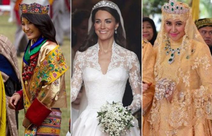 В лучших традициях: Роскошные королевские свадебные платья со всего мира.