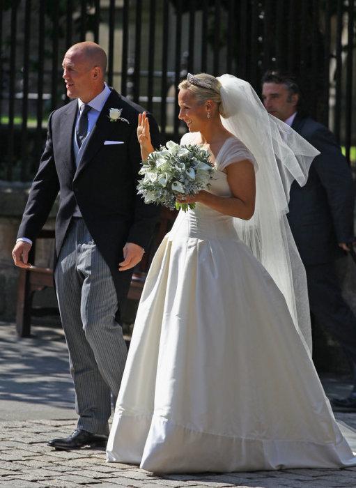 Зара Филлипс с  женихом Майком Тиндалом в 2011 году.