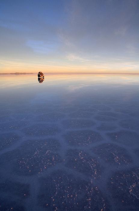 Белоснежные соляные равнины. Салар де Уюни.