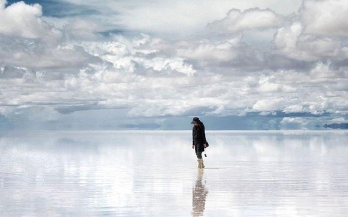 Солончак Салар де Уюни. Отражение.