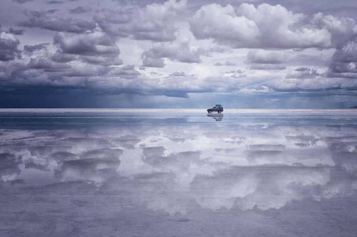 Белоснежные облака. Салар де Уюни.