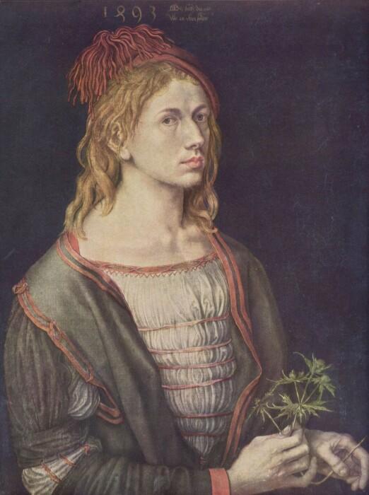 Автопортрет с чертополохом, 1493 год. \ Фото: zeno.org.