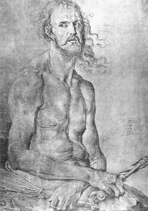 Автопортрет человек скорби, Альбрехт Дюрер. \ Фото: 1st-art-gallery.com