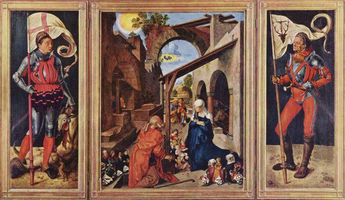 Алтарь Паумгартнеров: Рождение Христа, Альбрехт Дюрер, около 1500 года. \ Фото: twitter.com.