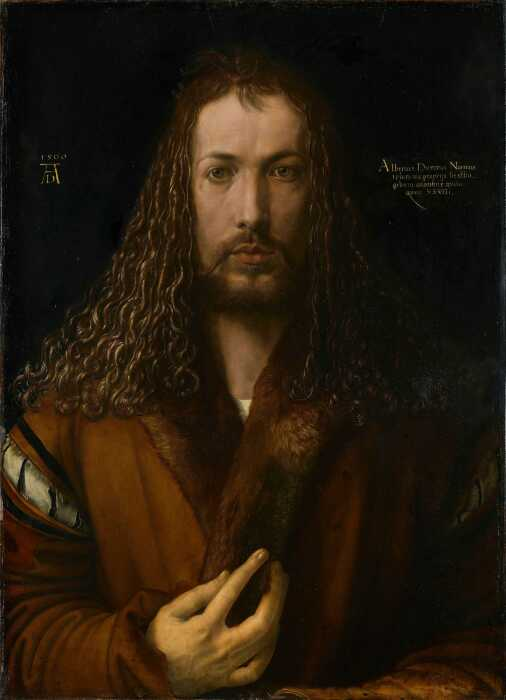 Тот самый скандальный автопортрет,  Альбрехт Дюрер, 1500 год. \ Фото: pinterest.dk.