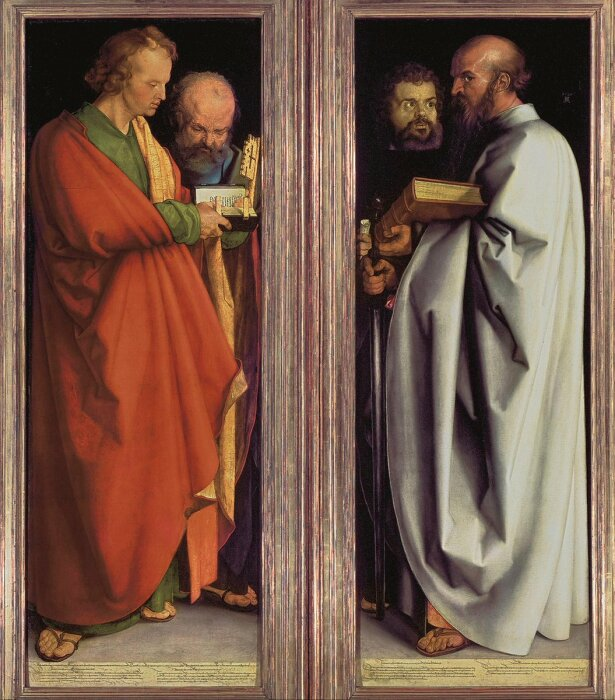 Четыре апостола, Альбрехт Дюрер, 1526 год. \ Фото: boston-terrier-mix.zooanimals.info.