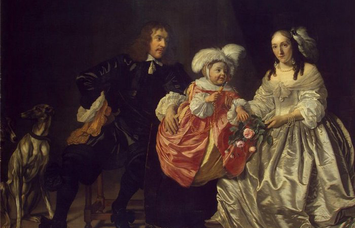 Pieter Lucaszn van de Venne with Anna de Carpentier and Child, 1652 год. Автор: Bartholomeus Van Der