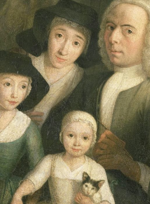 Self-portrait  with Suzanna van Bommel and Two Daughters, 1760 год. Автор: Hendrik Spilman.