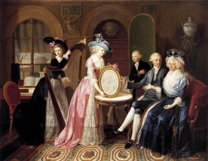 Portrait of the family Villers. Автор: Jan Bernard Duvivier.