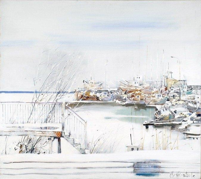 Зима на набережной. Автор: Сергей Черкасов.