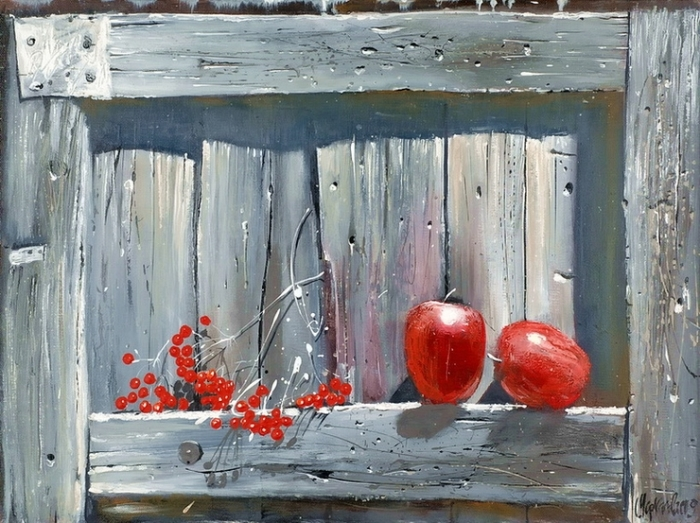 Красные яблоки. Автор: Сергей Черкасов.