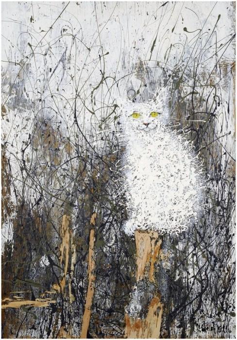 Белый кот. Автор: Сергей Черкасов.