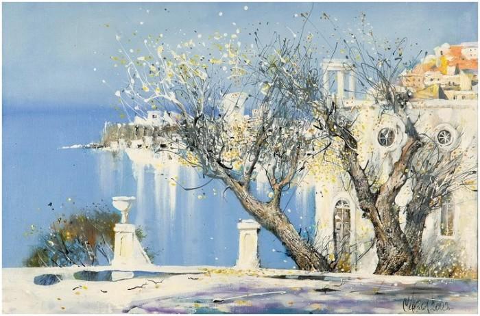 Одинокое дерево. Автор: Сергей Черкасов.