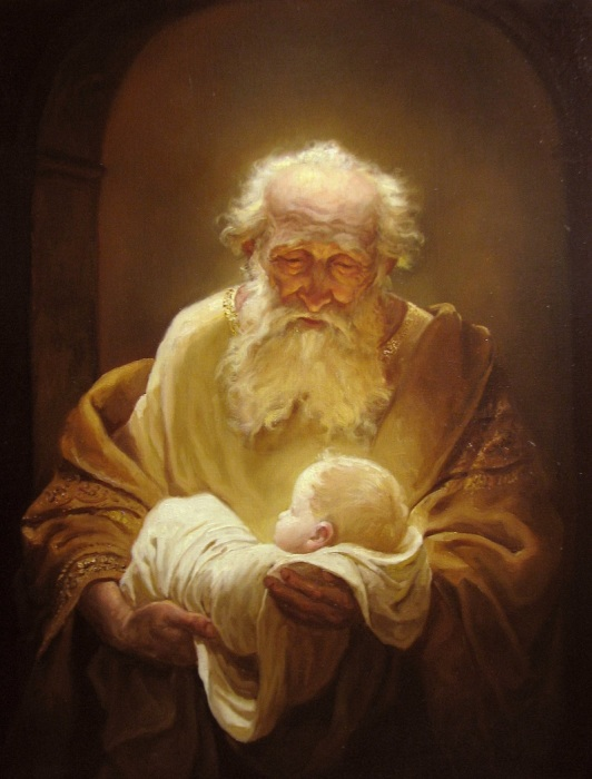 Симеон и Иисус. Автор: Андрей Шишкин.
