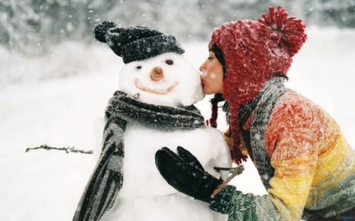 Зимний поцелуй.