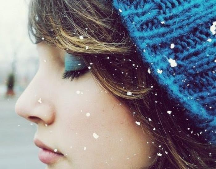 Снежинки на ресницах таяли...