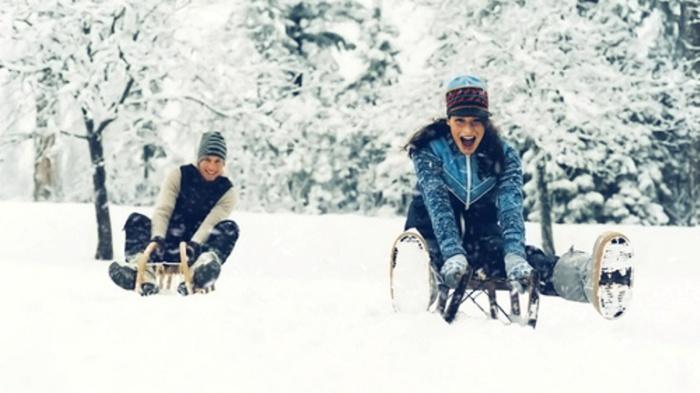 Зимние развлечение.