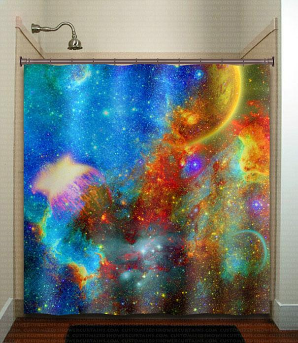 Занавеска для душа галактическая туманность ( Nebula Galactic Shower Curtain).