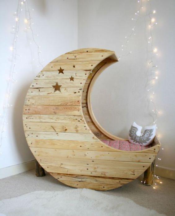 Детская кроватка месяц (Moon Shaped Baby Crib).
