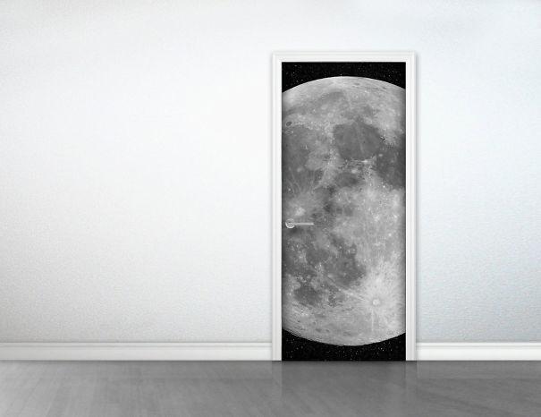Наклейка лунные двери (Moon Door Sticker).