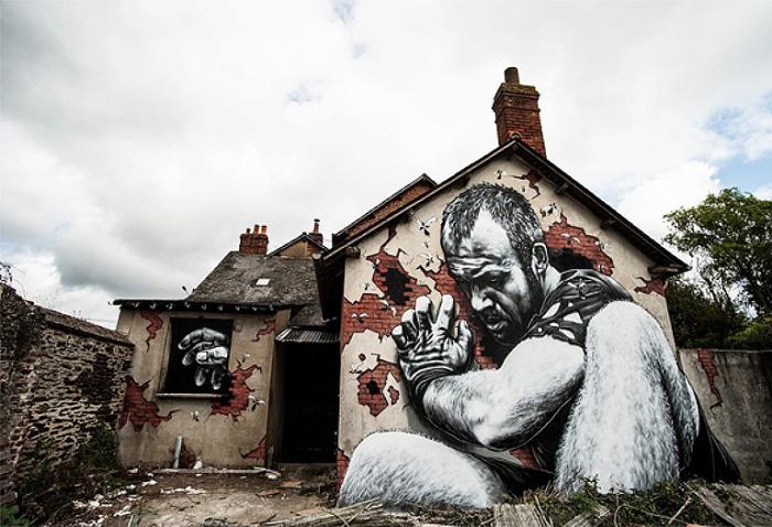 Сможешь граффити на улицах франции