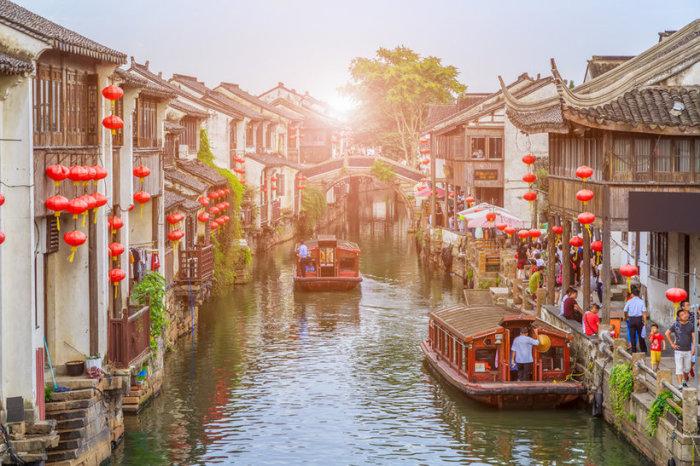 Сучжоу иногда называют «Восточной Венецией».