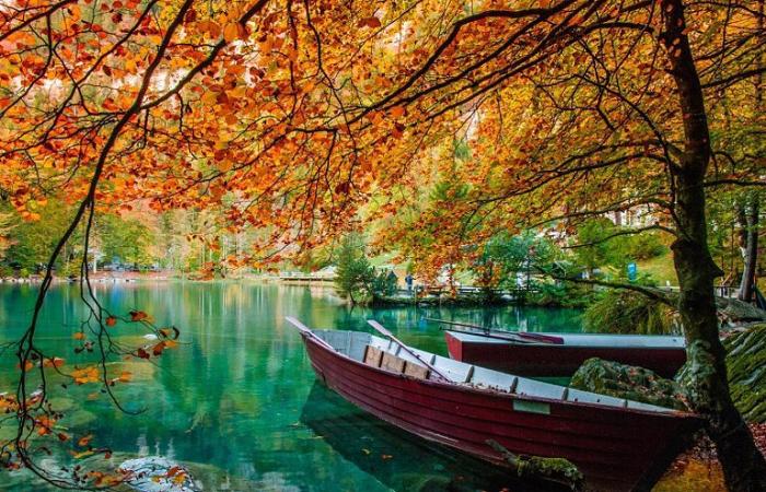 Красивые природные пейзажи швейцарии