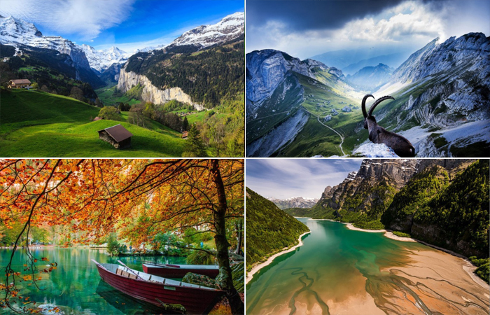 Невероятной красоты пейзажи Швейцарии.
