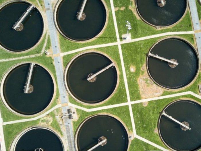Эти идеально ровные круги - резервуары на ферме для сточных вод.