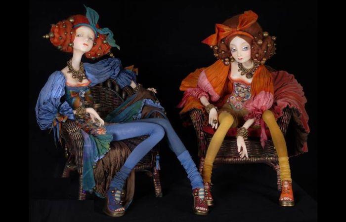 Мара и Рина. Авторские куклы Тамары Пивнюк.