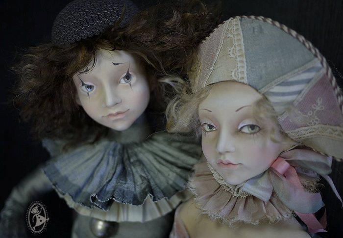 Коломбина и Пьеро. Автор: Тамара Пивнюк.